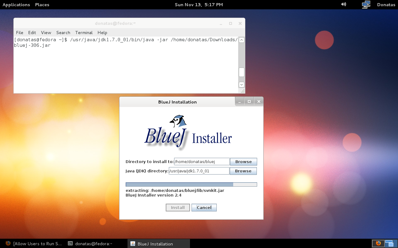 Fedora - BlueJ Install