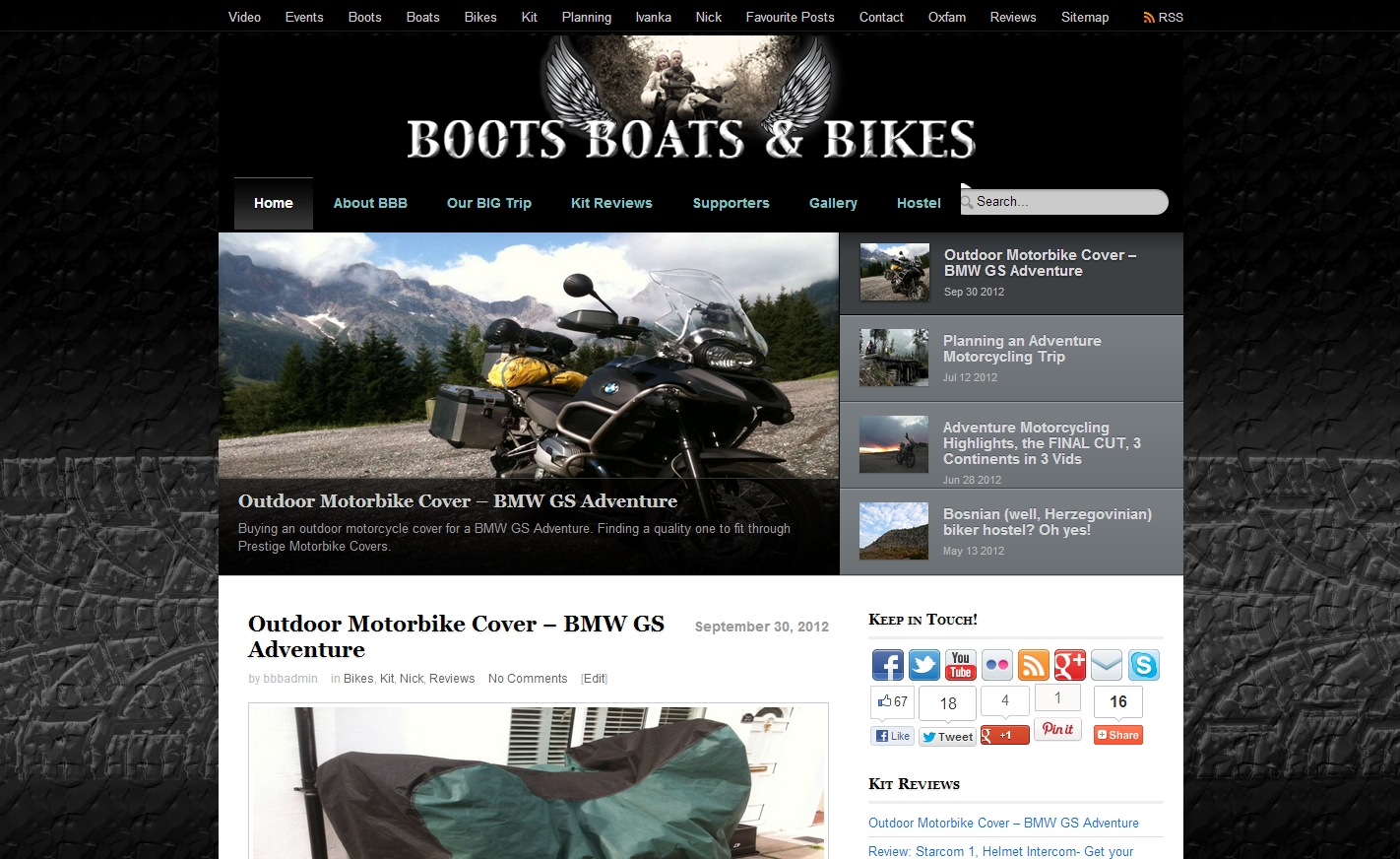 Boots, Boats and Bikes - More than just adventure motorcycling