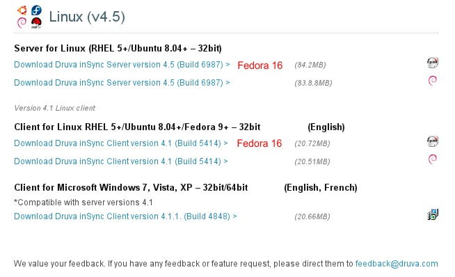 Fedora - Druva Download