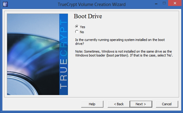 TrueCrypt - Boot Drive