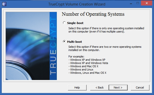 TrueCrypt - Number of Operating Systems