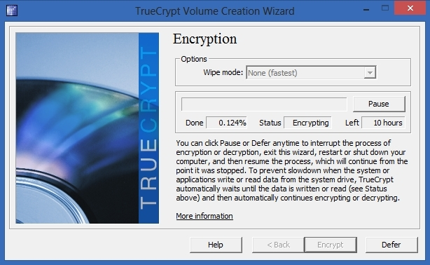 TrueCrypt -  Encryption