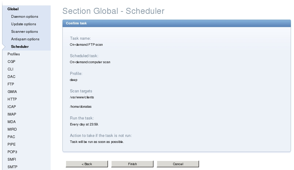 ESET Server Security - Scheduler - On-demand scan 3