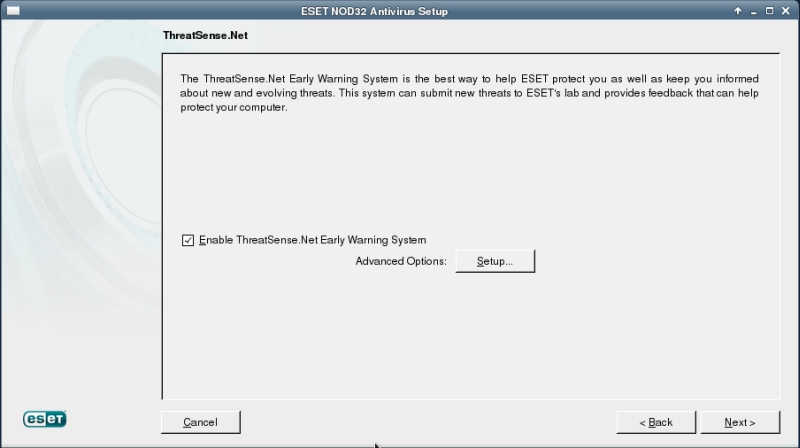 ESET NOD32 4 Antivirus installation on CentOS 6 XFCE desktop -  TreatSense.net
