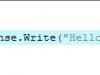 "ASP.NET ""Hello, World!"" code"