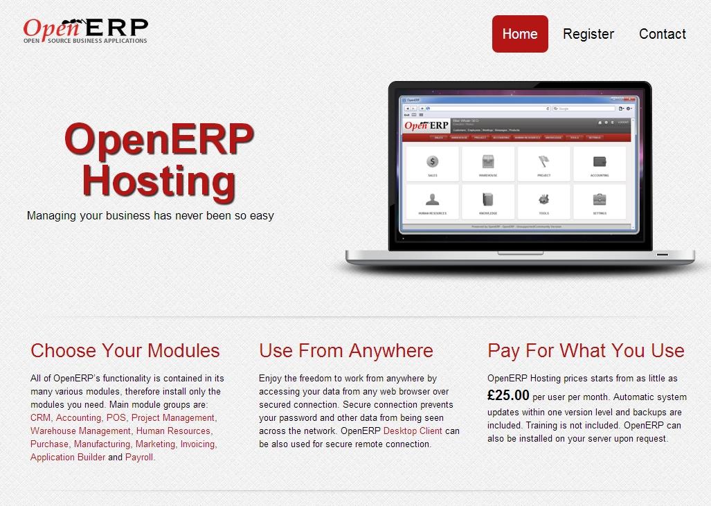OpenERP Hosting