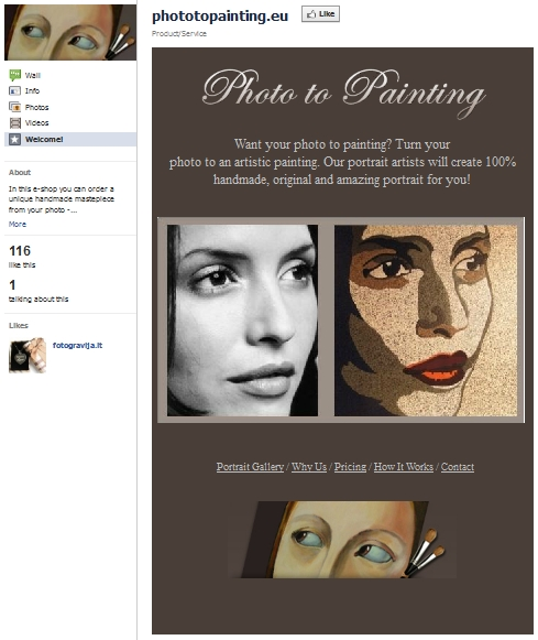 Photo To Painting - Facebook page
