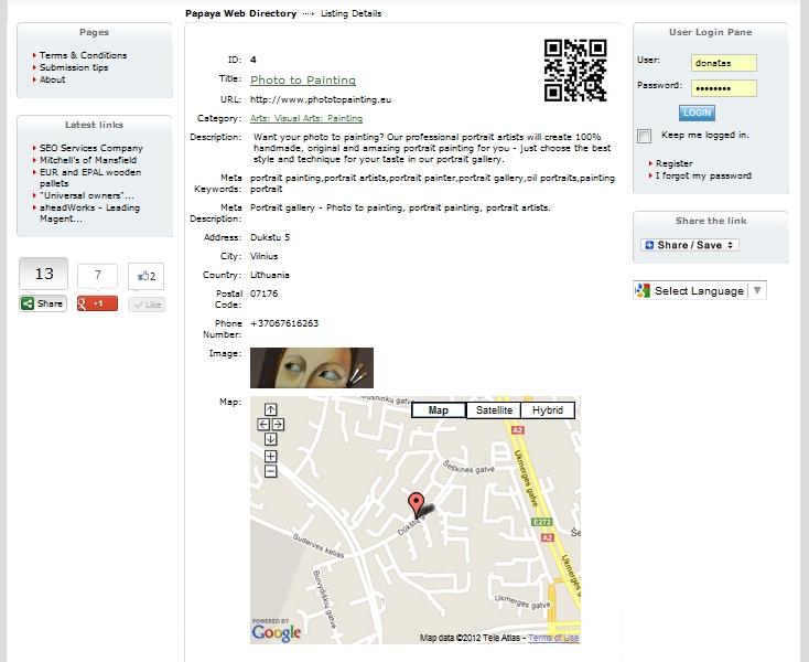 Photo To Painting - Papaya Web Directory page