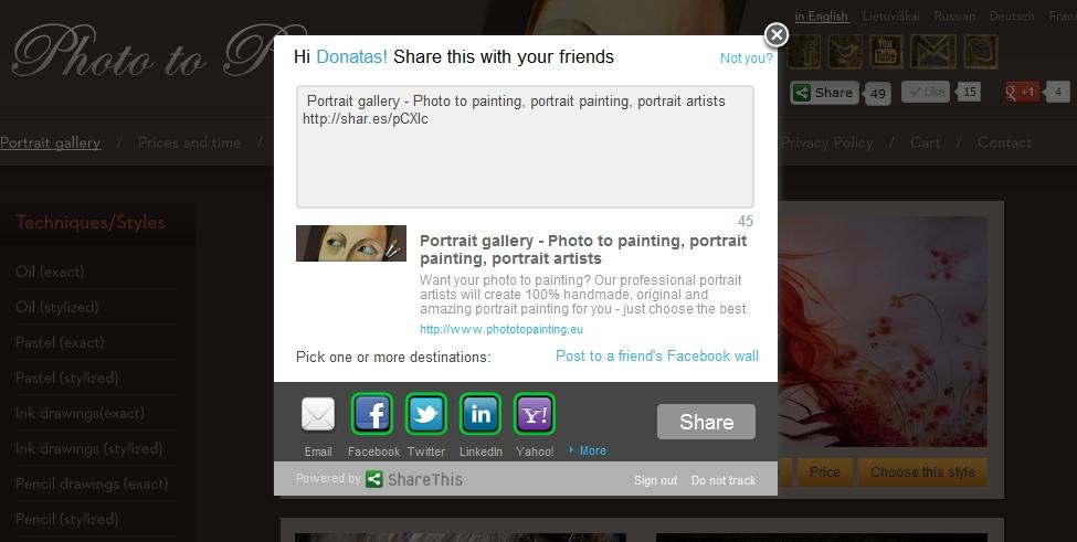 Photo To Painting - ShareThis
