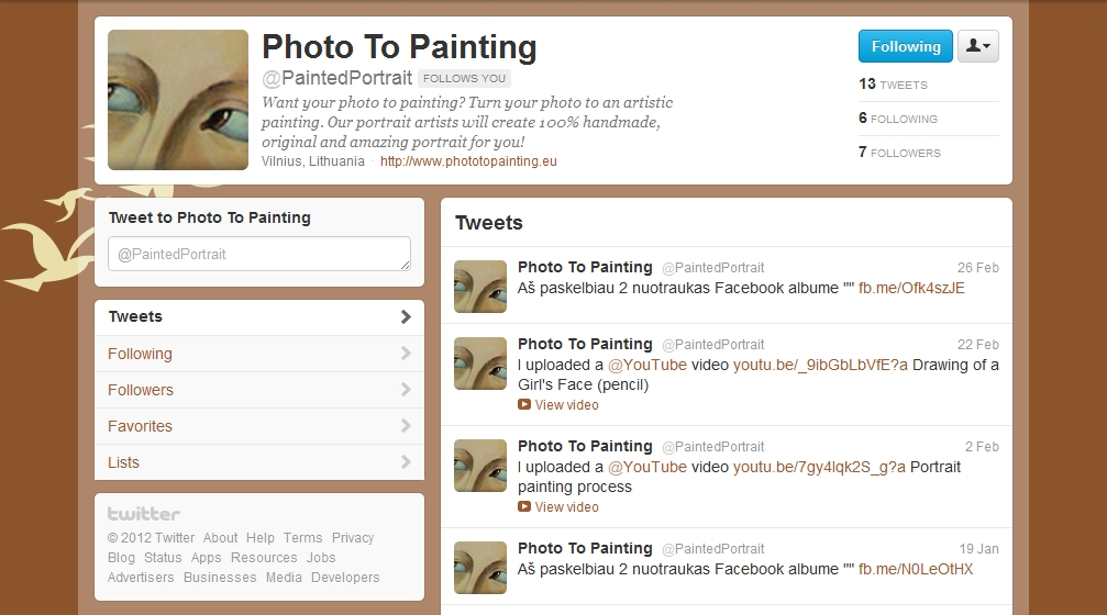 Photo To Painting - Twitter