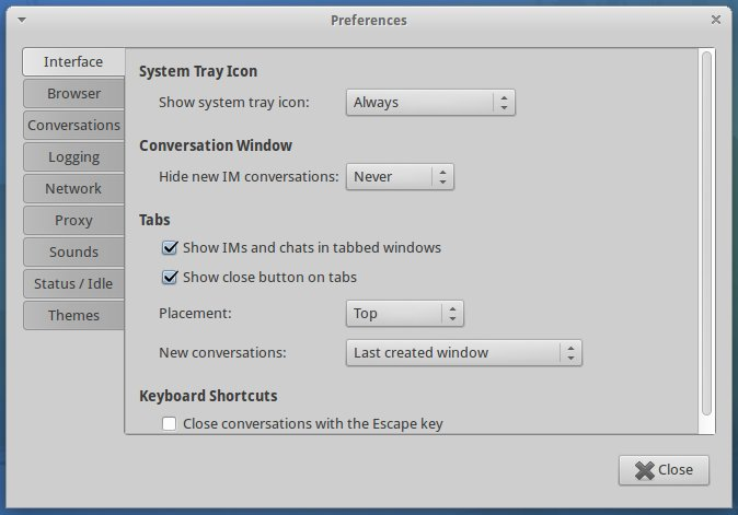 Xubuntu Pidgin IM setup 7