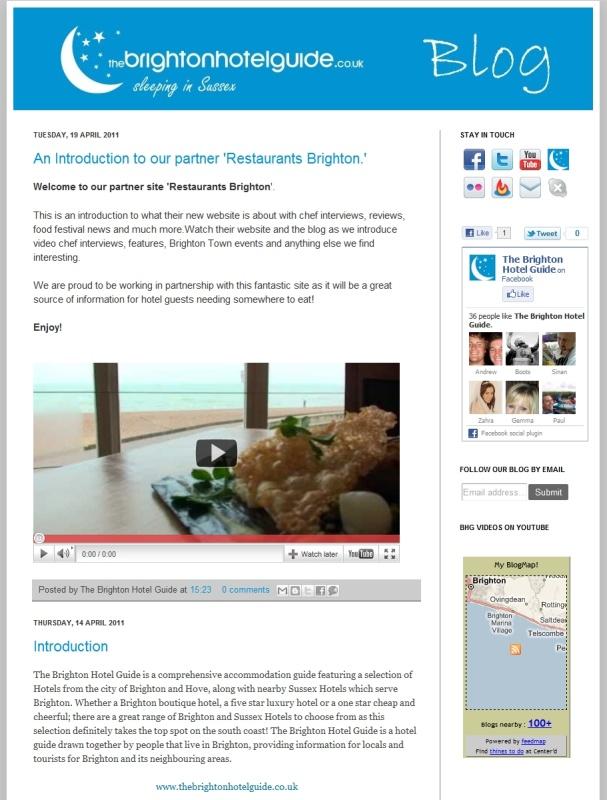 The Brighton Hotel Guide\'s Blog