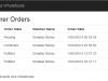 Customer order - Index