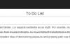 To-Do List - Tasks