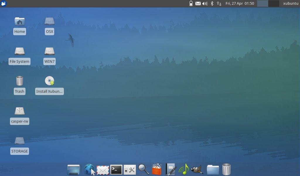 Xubuntu Live Desktop