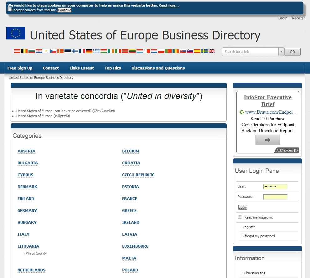 The United States of Europe Business Directory | Blue Whale SEO
